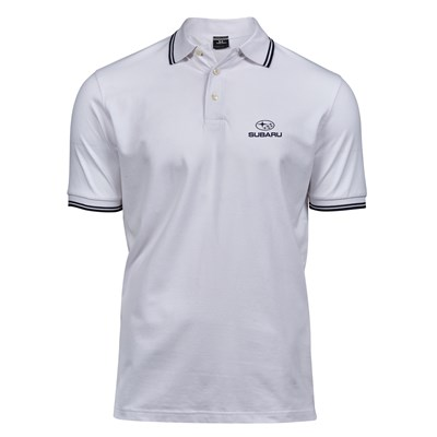 Lux Stretch Polo STRIPE, Gent's