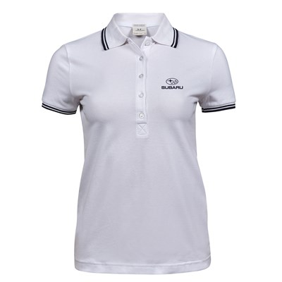 Lux Stretch Polo STRIPE, dam