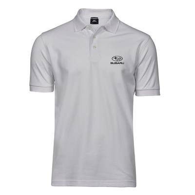 Lux Stretch Polo Vit, herr